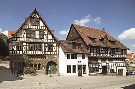 Lutherhaus, eines der ältesten Fachwerkhäuser von Thüringen. Luther lebte hier 3 Jahre.